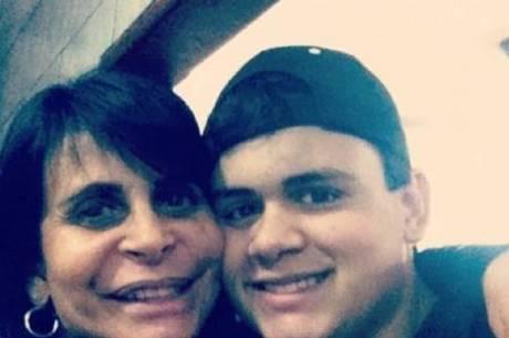 Gretchen e filho Gabe Ross, cantor pop