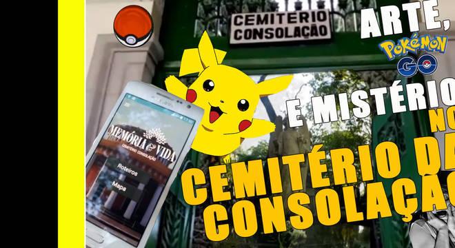 A gente foi ao cemitério, caçou Pokémon, tirou altas fotos e.... CLARO QUE IA FAZER UM VÍDEO MANEIRO!