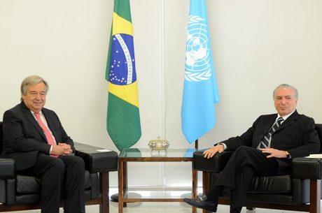 Guterres é o secretário geral da ONU que diz que Brasil é exemplo nos direitos humanos