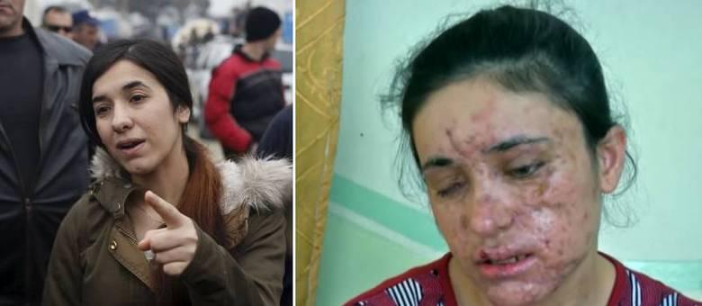 Lamiya Aji Bashar (à dir.) e Nadia Murad Basee (à esq.) receberam o importante prêmio Sájarov à Liberdade de Consciência, concedido pela União Europeia