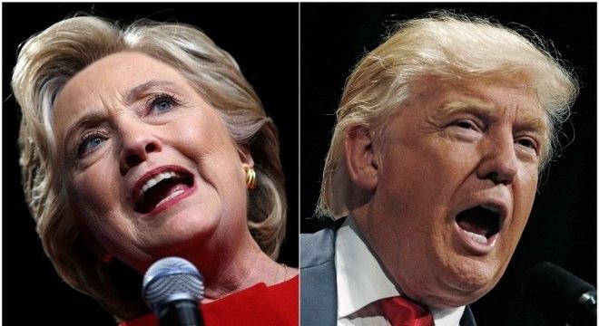 Hillary Clinton e Donald Trump disputam a Presidência dos EUA
