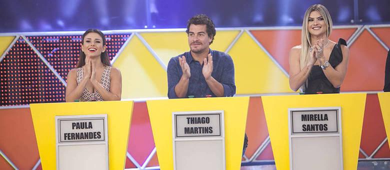 Ao lado de Paula Fernandes e Thiago Martins, Mirella Santos participou como jurada do Canjica Show