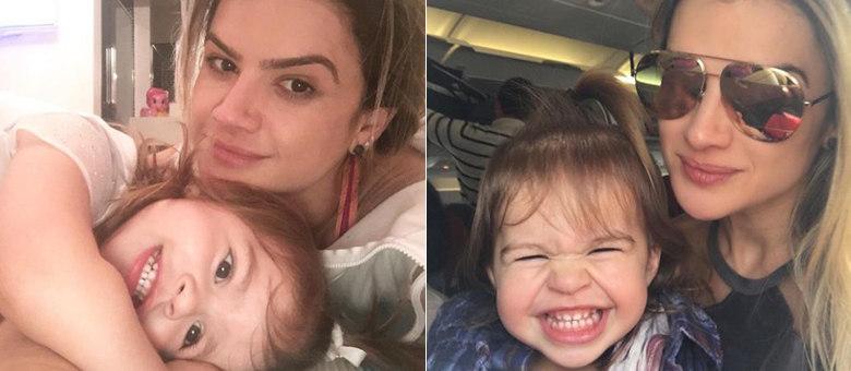 Mirella Santos faz selfies para lá de fofas com a filha, Valentina