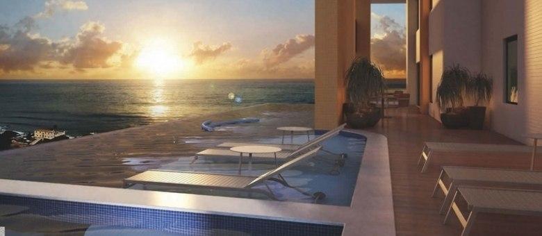 Imagem que ilustra o projeto da piscina do empreendimento de luxo com unidades a partir de R$ 2,5 milhões