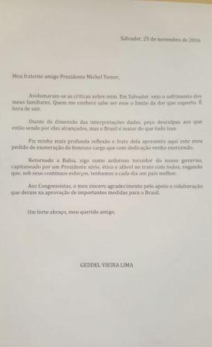 Geddel pede demissão e é o sexto ministro a deixar governo Temer