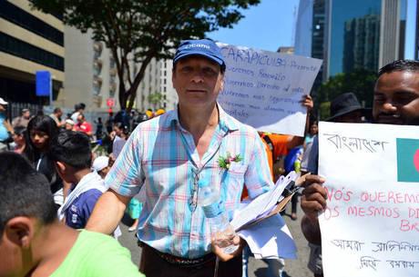 Roque Patussi é coordenador do Cami e organizador da marcha