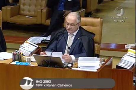 Ministro Luiz Fachin é relator da ação penal contra Renan