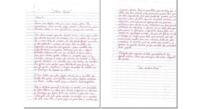 Carta apreendida em penitenciária de Presidente Venceslau que deu origem à Operação Ethos