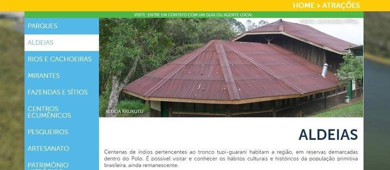 Site do Polo Ecoturismo destacava como uma das 'atrações' a visita à 'população primitiva brasileira'