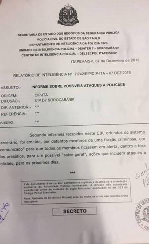 Autoridades da Segurança Pública em São Paulo entraram em estado de alerta por conta da transferência dos detentos