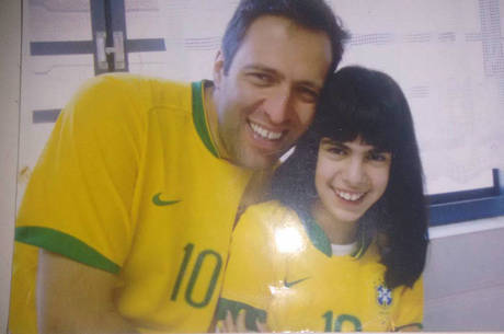 Murilo Abbas com a filha, Luana