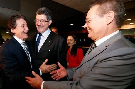 Interlocutores de Eunício (à esquerda), dizem que ele e Renan (à direita) se afastaram após desentendimentos