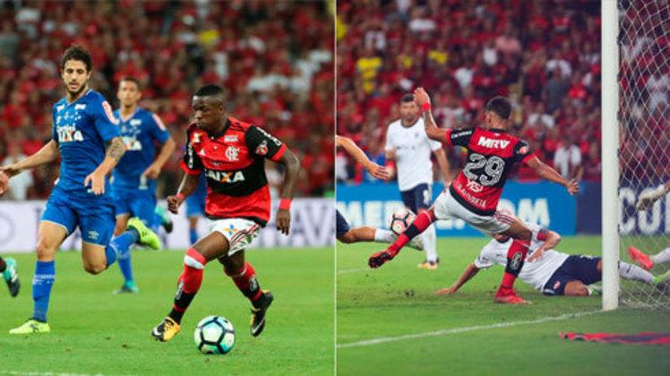 2017 - Após a chegada de Reinaldo Rueda, o Flamengo cresceu de rendimento e chegou a duas finais importantes: a da Copa do Brasil e da Sul-Americana. Mas diante de Cruzeiro e Independiente, respectivamente, o Rubro-Negro bateu na trave a acumulou vice-campeonato nas duas ocasiões.