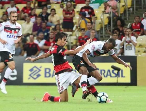 2017 - Já pelas oitavas, o Flamengo estreou no Maracanã contra o Atlético-GO e ficou num frustrante empate em 0 a 0. Esse ano foi o último em que o clube chegou à final da Copa do Brasil (foi vice diante do Cruzeiro).