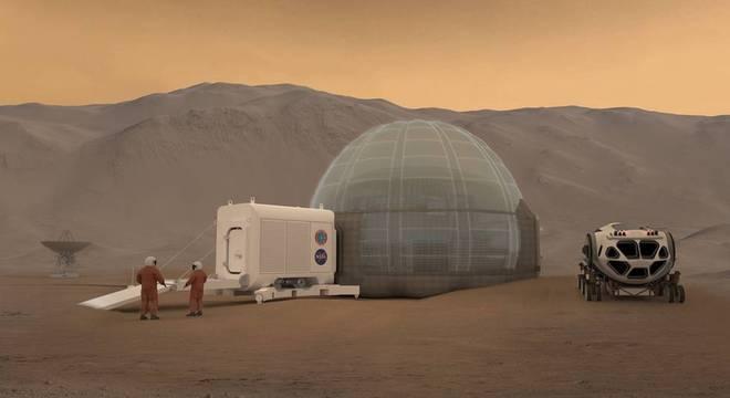 Nasa quer criar casas de gelo em Marte