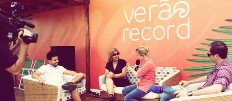 Carmen Flores concede visita casa de verão RecordTV RS