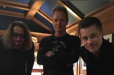 Chris Cornell, Sting e Brad Pitt em evento beneficente