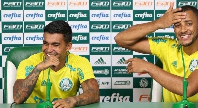 Dudu e Vitor Hugo comemoraram bastante a primeira convocação para a seleção com o técnico Tite