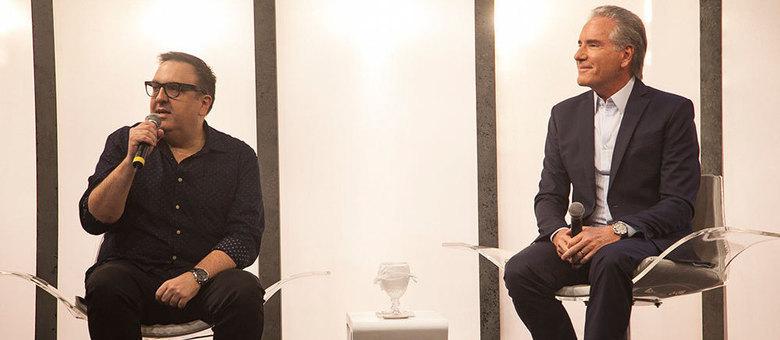 Rodrigo Carelli, diretor do Power Couple Brasil 2, e Roberto Justus falam sobre o programa