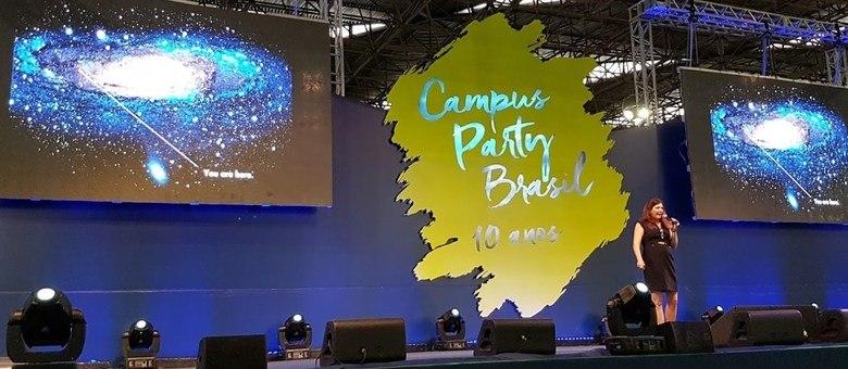 Duilia de Melo foi um dos destaques da semana no palco principal da Campus Party 2017