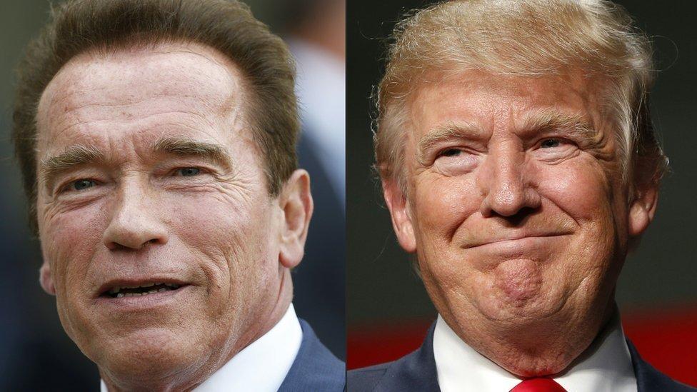 Trump pede para que rezem por Schwarzenegger