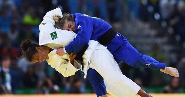 Campeã olímpica, Rafaela Silva termina em quinto lugar no Grand Slam de Paris