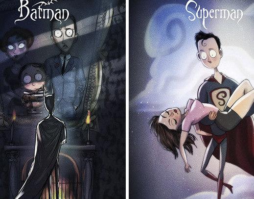 E se… Os super-heróis fossem criados por Tim Burton? Veja 10 Versões