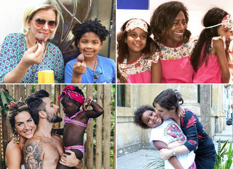 Muito amor para dar! Conheça os famosos que têm filhos adotivos