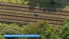 Homem morre atropelado em linha de trem em BH