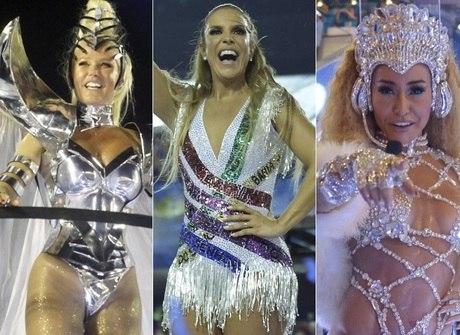 Veja as famosas que brilharam na primeira noite de desfiles do Rio