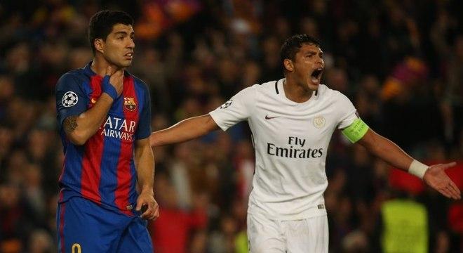Thiago Silva teve uma atuação muito ruim diante do Barcelona nesta quarta-feira (8)