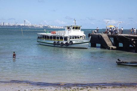 travessia salvador-mar grande, lancha, maré baixa