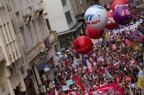 CUT foi a responsável pela organização da manifestação contra a reforma da previdência no Dia Internacional da Mulher