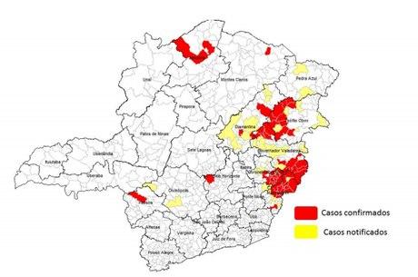Ao todo, 53 cidades mineiras confimaram casos de febre amarela em 2017