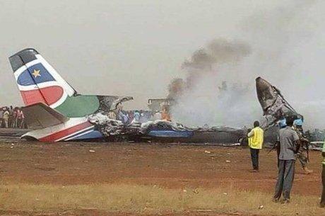 Acidente ocorreu na pista do aeroporto de Wau, no Sudão do Sul