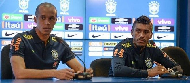 Miranda e Paulinho foram os escolhidos para conceder entrevista coletiva nesta segunda-feira (20)