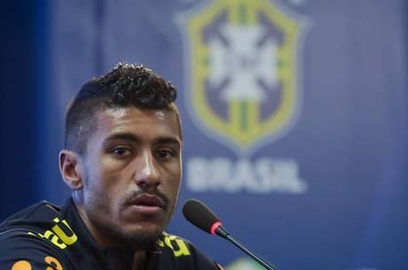 Paulinho concedeu entrevista coletiva no CT Joaquim Grava