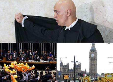 Atentado em Londres e aprovação da terceirização são os destaques