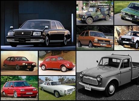 Conheça dez carros que já estão<br />no mercado há mais de 30 anos