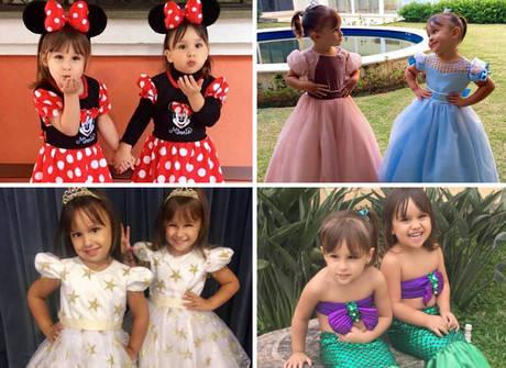 Maya e Kiara, as filhas gêmeas de Natália Guimarães, roubam a cena