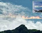 """""""Arco-íris de fogo"""" deixa população em pânico com medo do fim do mundo"""