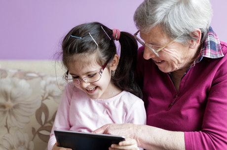 Avós modernas tem usado e abusado da tecnologia