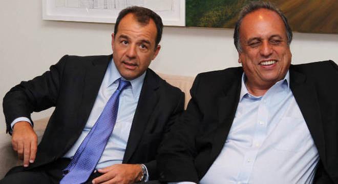Os ex-governadores do Rio, Sérgio Cabral e Luiz Fernando Pezão