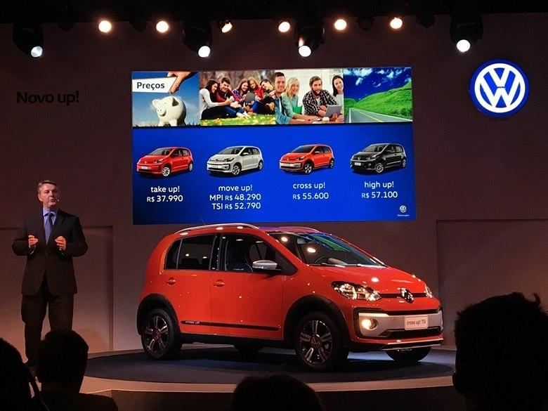 Volkswagen revela novo Cross Up e preços da linha 2018; hatch parte de R$ 37.990 e atinge R$ 57.100 na High Up