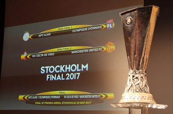 Semifinais da Liga Europa terão United x Celta e Lyon x Ajax