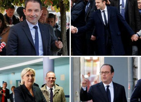 Candidatos à presidência da França votam neste domingo