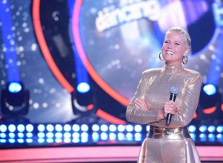 Xuxa dança valsa com Sérgio Marone no programa de hoje