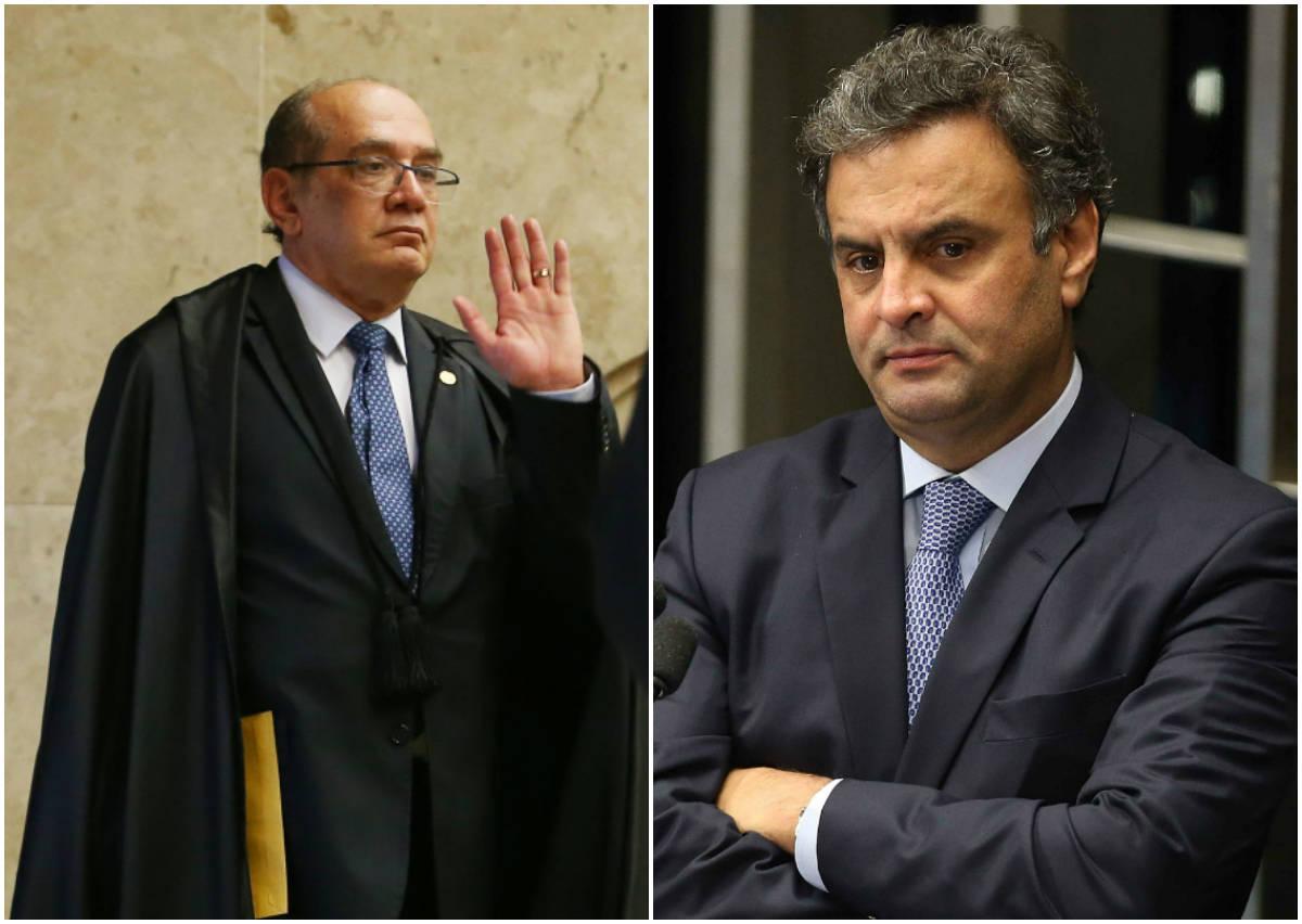 Mendes suspende interrogatório de Aécio