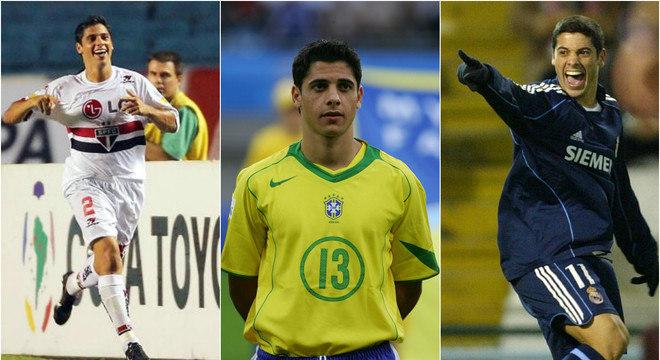 Cicinho em três fases: São Paulo, seleção brasileira e no galáctico Real Madrid