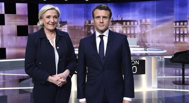 Marine Le Pen e Emmanuel Macron disputam, hoje, a Presidência da França